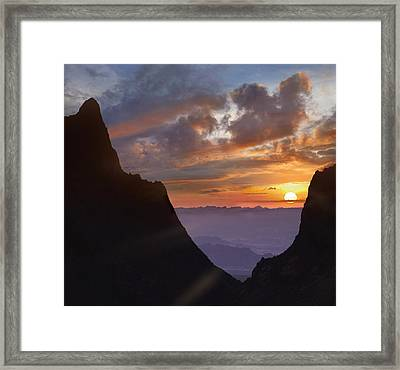 The Window At Sunset Big Bend Np Texas Framed Print by Tim Fitzharris