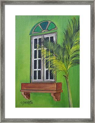 The Window Framed Print by Gloria E Barreto-Rodriguez