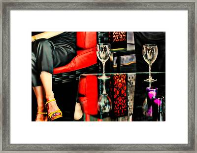 The Wine Bar Framed Print by Diana Angstadt