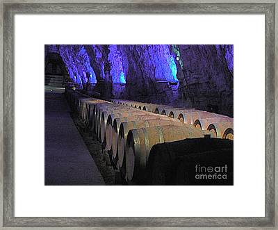 The Wine Cave Framed Print by France  Art