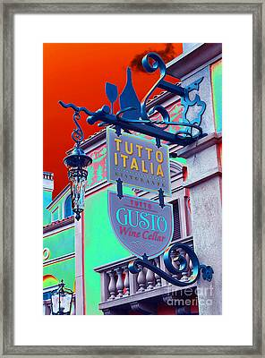 The Wine Cellar II Framed Print by Robert Meanor