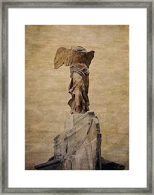 The Winged Victory Of Samothrace Framed Print by Maria Angelica Maira