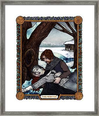The Winter Bookplate Framed Print by A Ka