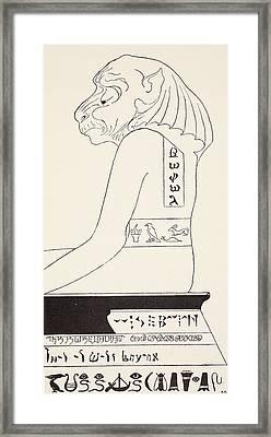 The Wise Baviaan The Dog-headed Baboon Framed Print by Joseph Rudyard Kipling