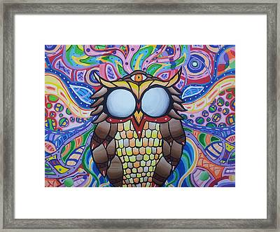 The Wise Owl Framed Print by Tyler Chewning