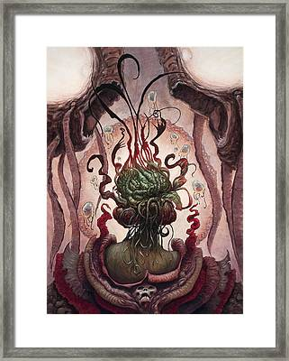 The Witch In The Water  Framed Print by Ethan Harris