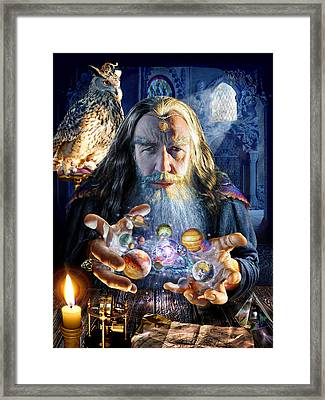 The Wizards World Framed Print by Adrian Chesterman