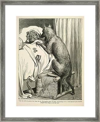 The Wolf Framed Print by British Library