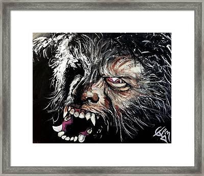 The Wolfman Framed Print by Tom Carlton