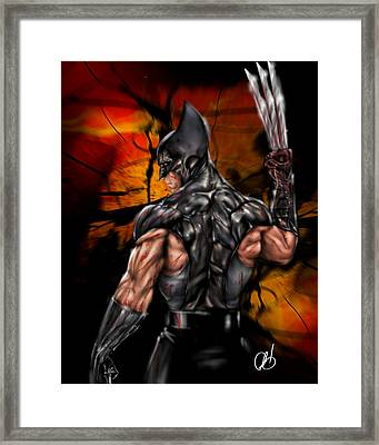 The Wolverine Framed Print by Pete Tapang