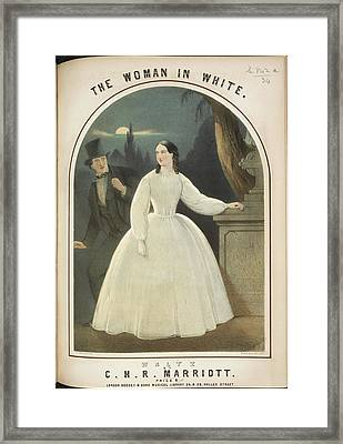 The Woman In White Framed Print by British Library