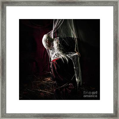 The Woman Who Waited Framed Print by Spokenin RED