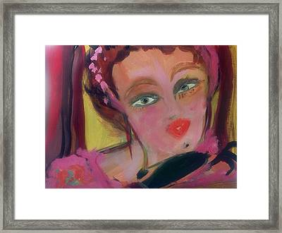 The Woman Who Whistled At The Opera Framed Print by Judith Desrosiers