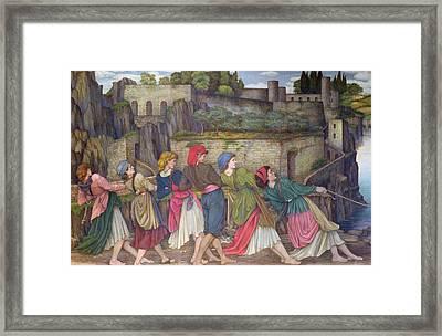 The Women Of Sorrento Framed Print by John Roddam Spencer Stanhope