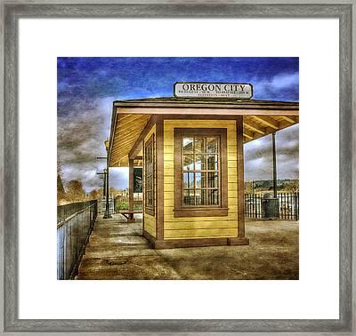The Oregon City Train Depot Framed Print by Thom Zehrfeld