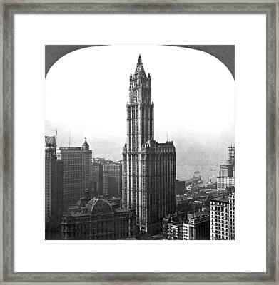 The Woolworth Building In Nyc Framed Print by Underwood Archives