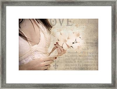 The Words You Say. Love Letters Framed Print by Jenny Rainbow