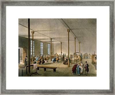 The Workhouse, St James, Parish, London Framed Print by T. & Pugin, A.C. Rowlandson