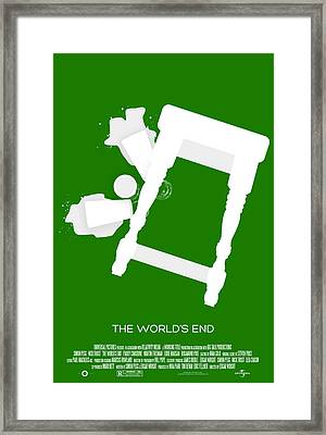 The Worlds End Cornetto Trilogy Custom Poster Framed Print by Jeff Bell