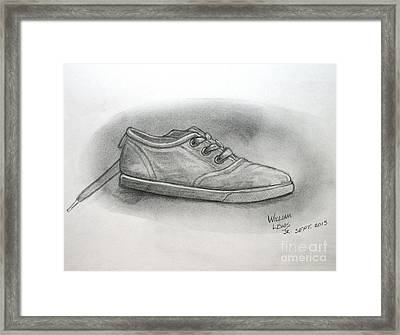 The Worn Sneaker Framed Print by William Lewis