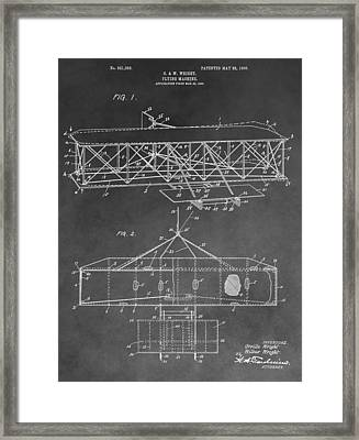 The Wright Brothers Airplane Framed Print by Dan Sproul