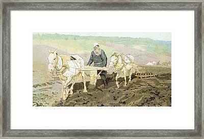 The Writer Lev Nikolaevich Tolstoy Framed Print by Ilya Efimovich Repin