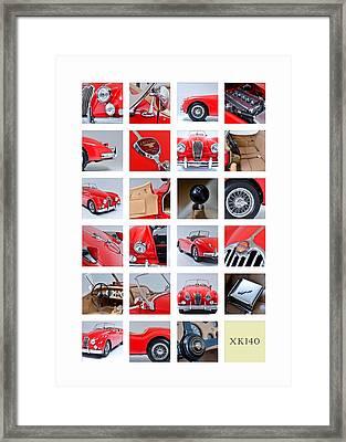 The Xk140 Framed Print by Mark Rogan