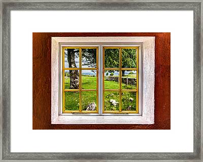 The Yard Framed Print by Semmick Photo