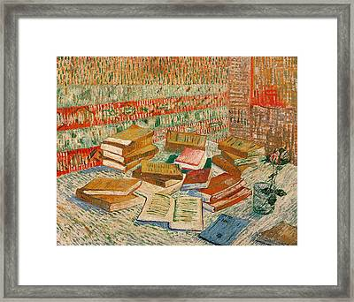 The Yellow Books Framed Print by Vincent Van Gogh