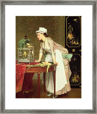 The Yellow Canaries Framed Print by Joseph Caraud