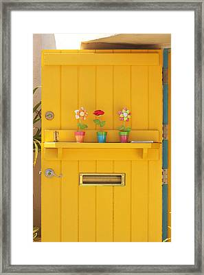The Yellow Door Framed Print by Art Block Collections