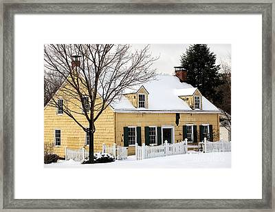 The Yellow House Framed Print by John Rizzuto