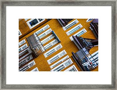 The Yellow House Framed Print by Toppart Sweden