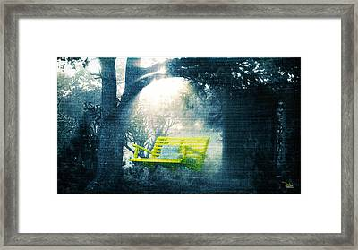 The Yellow Swing Framed Print by Douglas MooreZart