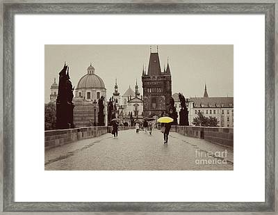 The Yellow Umbrella Framed Print by Ivy Ho