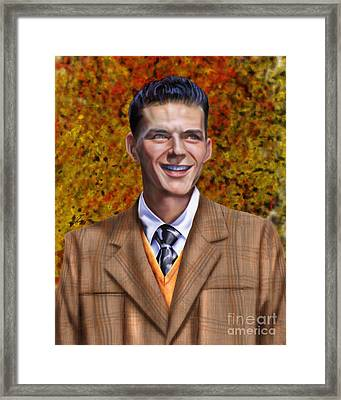 The Young Chairman - Sinatra Framed Print by Reggie Duffie