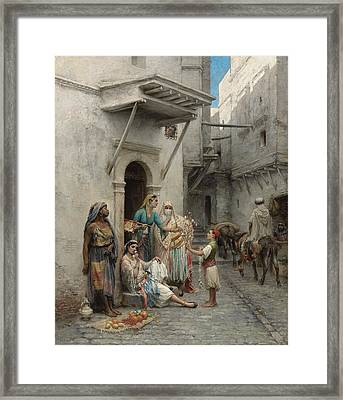 The Young Flower Seller Framed Print by Pierre Outin