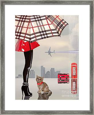 The Young Londoner Framed Print by Victoria Fomina
