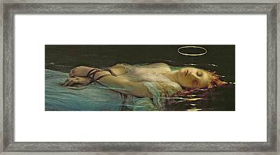 The Young Martyr Framed Print by Hippolyte Delaroche