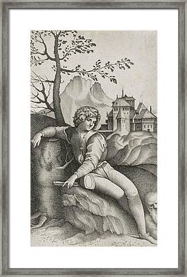 The Young Shepherd Framed Print by Giulio Campagnola