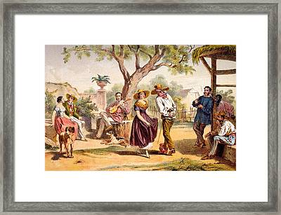 The Zapateado - National Dance, 1840 Framed Print by Federico Mialhe