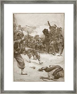 The Zouaves Took One Of The Barricades Framed Print by Ernest Prater