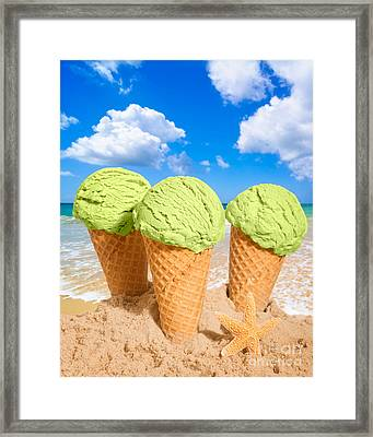 Thee Minty Icecreams Framed Print by Amanda And Christopher Elwell