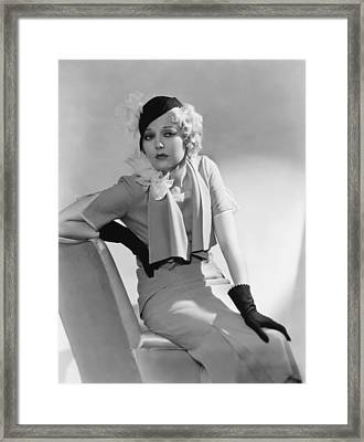 Thelma Todd, 1932 Framed Print by Everett