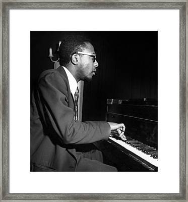 Thelonious Sphere Monk (1917-1982) Framed Print by Granger