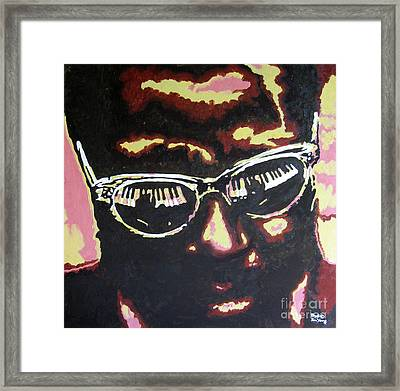 Thelonius Monk Framed Print by Ronald Young