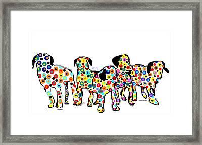 Them Pups Framed Print by Bri B
