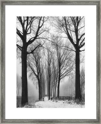 Then Winter Comes Framed Print by Yvette Depaepe