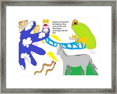 Theo Brings A Message From Heaven Framed Print by Anita Dale Livaditis