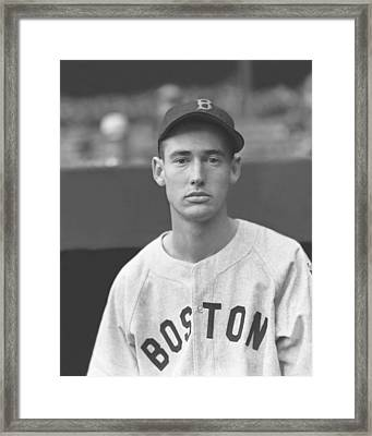 Theodore S. Ted Williams Framed Print by Retro Images Archive